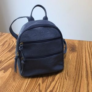Bueno Blue Faux Leather Small Backpack. EUC